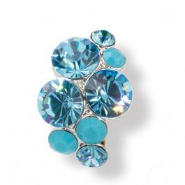 "Ring ""Waterfall"" - aqua/turquoise"