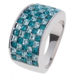 """Ring """"Minisquare 5-reihig"""" - indicolite/aqua"""