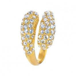 """Ring """"Schlange"""" - gold/crystal"""