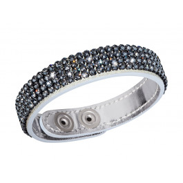"Lederarmband ""Trendy"" - silber/black diamond"