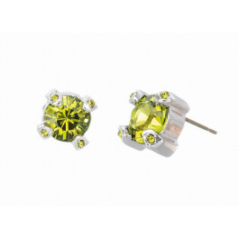 "Ohrstecker ""Solitaire Fabergé"", groß - peridot"