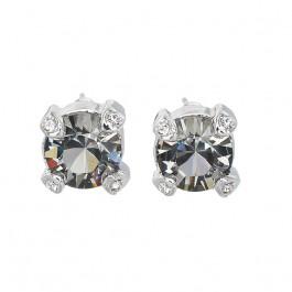 "Ohrstecker ""Solitaire Fabergé"", black diamond"