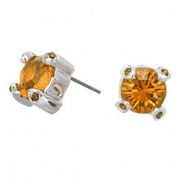"Ohrstecker ""Solitaire Fabergé"", lt. smoked topaz"