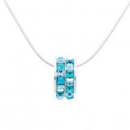 """Halskette """"Rädchen Minisquare"""" - indicolite/aqua"""