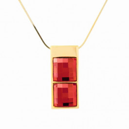 "Anhänger ""Mosaik Square"", doppelt - gold/light siam"