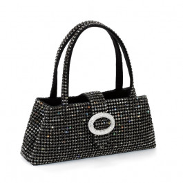 "Kristalltasche ""Tiffany"" - silver night/black diamond"