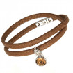 "Damen-Lederarmband ""Dream"" - cognac"