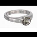 "Ring ""Solitaire"" - black diamond"