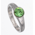 """Ring """"Solitaire"""" - peridot"""