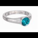"""Ring """"Solitaire"""" - indicolite"""