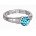 "Ring ""Solitaire"" - aqua"