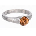 "Ring ""Solitaire"" - light smoked topaz"