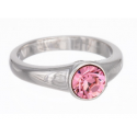 """Ring """"Solitaire"""" - light rose"""