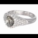 "Ring ""Solitaire Diva"" - black diamond"