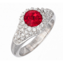 "Ring ""Solitaire Diva"" - light siam"