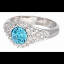 """Ring """"Solitaire Diva"""" - aqua"""