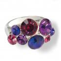 "Ring ""Waterfall"" - fuchsia/purple velvet"