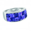 "Ring ""Square"" - tanzanite/violette"