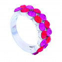 "Ring ""Trendy""- light siam/fuchsia"