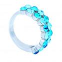 """Ring """"Trendy"""" - indicolite/aqua"""