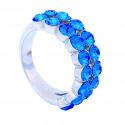 """Ring """"Trendy"""" - capri blue"""