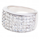 "Ring ""Minisquare 5-reihig"" - crystal"