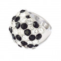 """Ring """"Coccinella"""" - crystal/jet"""
