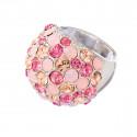 "Ring ""Coccinella"" - light rose/rose alabaster"
