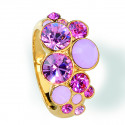 """Ring """"Waterfall"""", klein - light rose/rose alabaster"""
