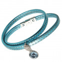 "Damen-Lederarmband ""Dream"" - aqua"