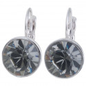 "Ohrstecker ""Solitaire One Diamond"" - black diamond"