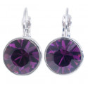 "Ohrstecker ""Solitaire One Diamond"" - amethyst"