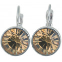 "Ohrstecker ""Solitaire One Diamond"" - light smoked topaz"
