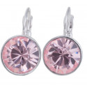 "Ohrstecker ""Solitaire One Diamond"" - light rose"
