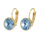 """Ohrstecker """"Solitaire One Diamond"""" - gold/lt saphire"""