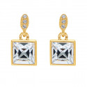 """Ohrstecker """"Dream Square"""" - gold/crystal"""