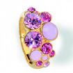 "Ring ""Waterfall"", small - light rose/rose alabaster"