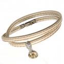 "Ladies' leather bracelet ""Dream"" - beige"